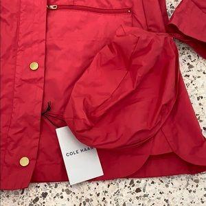 Cole Haan Jackets & Coats - NWT Colehaan red rain packable jacket coat M